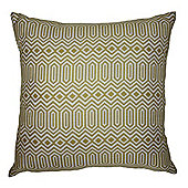 McAlister Smooth Touch Cushion Yellow Geometric Design