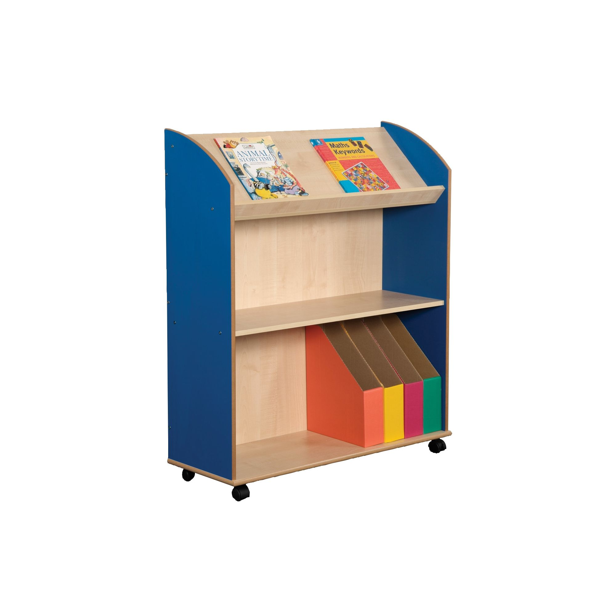 Liberty House Toys Primary Coloured Maple Two Shelf Bookcase and Display Unit at Tescos Direct