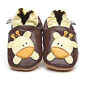 Olea London Soft Leather Baby Shoes Giraffe - Brown