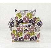 Bordeaux Chair - Natural/Aubergine Floral