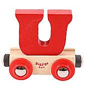 Bigjigs Rail Rail Name Letter U (Red)