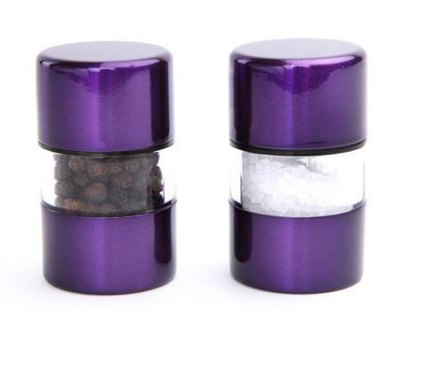 David Mason Design Mini Gem 6cm Salt and Pepper Mill Set - Purple