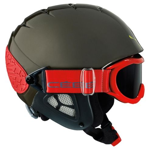 Cebe Twinny Junior Ski Helmet Gunmetal Red 50-52
