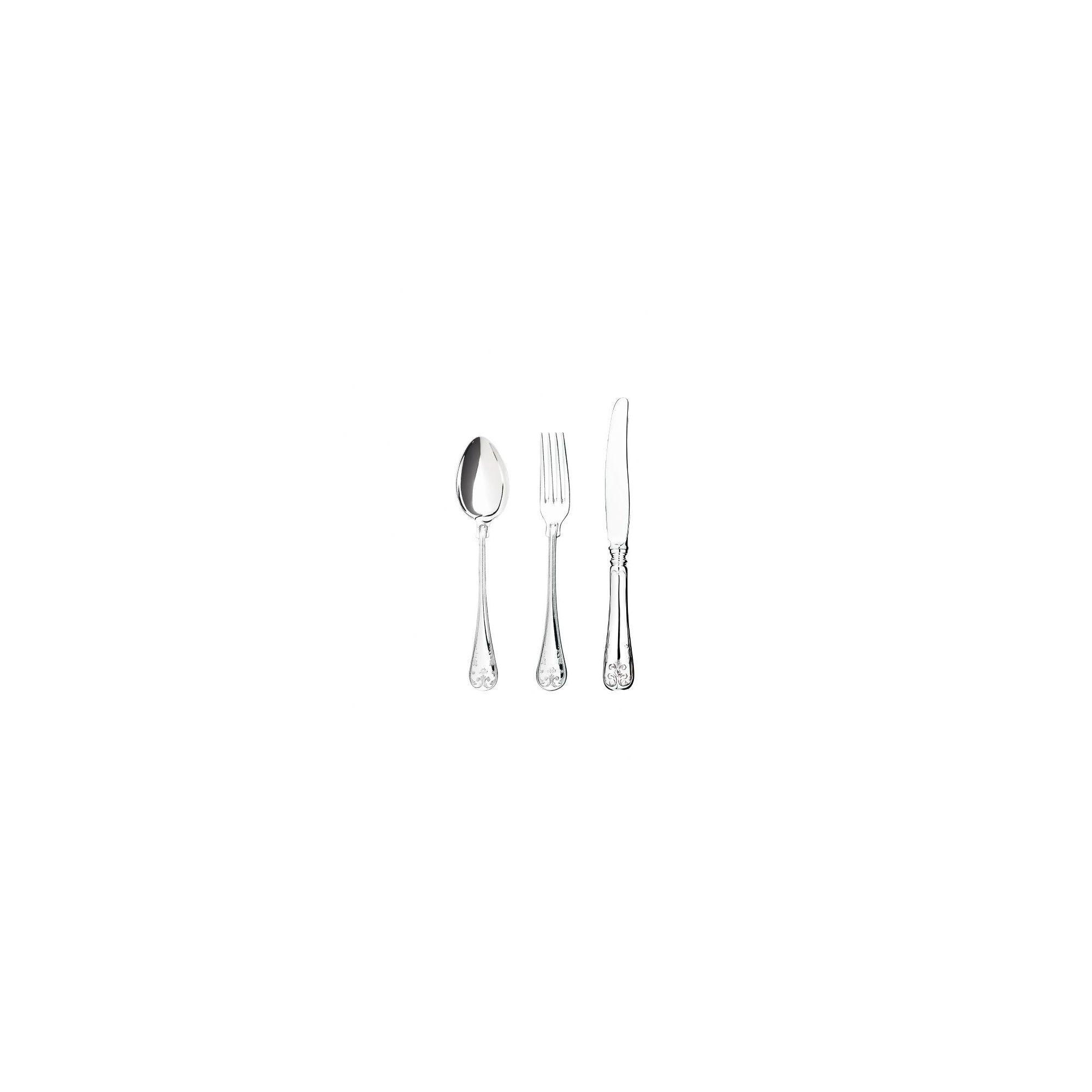 Mema/GAB Gammal Fransk 12 Piece Silver Plated Cutlery Set 1 at Tesco Direct
