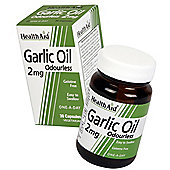 HealthAid Garlic Oil Odourless 30 Veg Capsules 2mg
