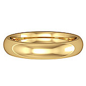 18ct Yellow Gold - 4mm Premium Court-Shaped Band Commitment / Wedding Ring -