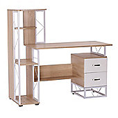 Homcom Computer Desk PC Workstation w/2 Drawers Multi-Shelves Office Furniture