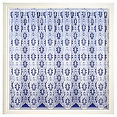Tyrone Odessa Single Panel Net Curtains Channel Top - White