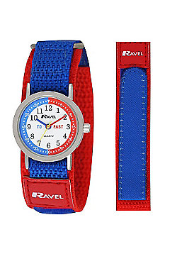 Boys Red and Blue Time Teacher Watch