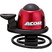 Acor Alloy Mini Bicycle Bell, Red