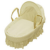 Kinder Valley Broderie Anglais Moses Basket (Cream)