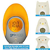 Gro-Egg Thermometer & 3 Fun Animal Gro-Egg Shells