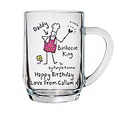 Personalised Purple Ronnie BBQ King Tankard