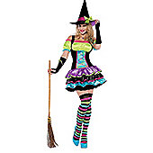 Pop Neon Witch - Adult Costume Size: 12-14