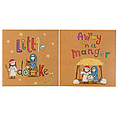 Tesco Cute Nativity Christmas Cards, 12 Pack