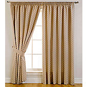 Dotty Ready Made Blackout Curtains - Beige