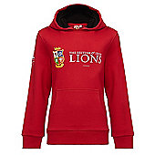 Sportfolio British & Irish Lions Kids Pullover Hoody - Red
