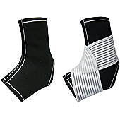 Bremshey Neoprene Ankle Support Brace with Elastic Support Strap - Black