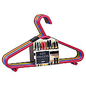Tesco 10 Pack Kids Hangers (primary colours)