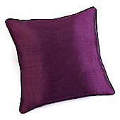 Rectella Sunset Aubergine Faux Silk Self Piped Cushion Cover -46x46cm