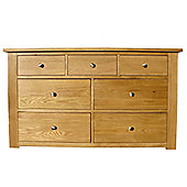 Home Zone Furniture Lincoln 3 Over 4 Drawer Chest