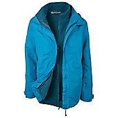 Fell 3 in 1 Womens Showerproof Walking Hiking Coat Jacket + Fleece - Blue