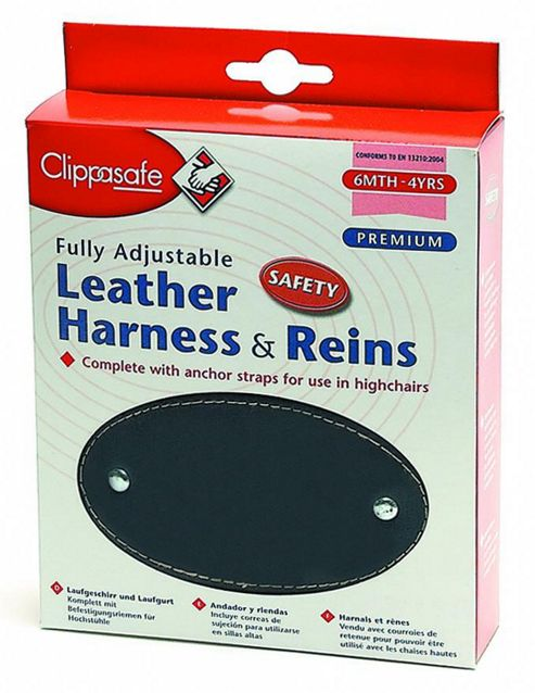 Clippasafe Leather Harness and Rein Navy