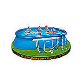 "Intex Oval Framed Inflatable Pool Package 18ft x 10ft x 42"" - 28192"