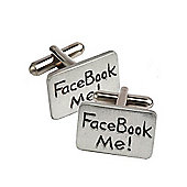 Facebook Me Novelty Cufflinks