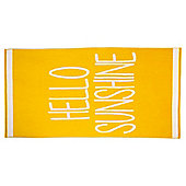 Tesco Hello Sunshine Beach Towel