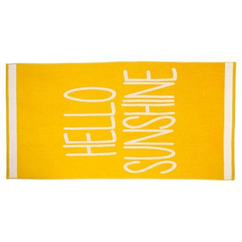 Tesco Hello Sunshine Beach Towel