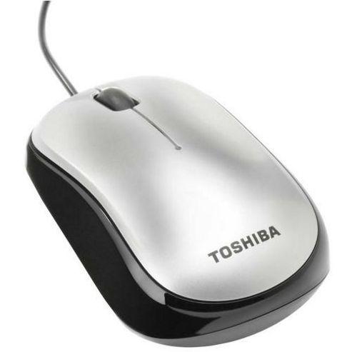Toshiba PA3823E-1ETG Mouse - Optical - Wired - 3 Button(s) - Black, White - Retail - USB 2.0 - 1000 dpi - Tilt Wheel - Symmetrical