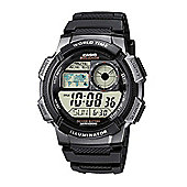 Casio Mens Resin Day & Date LED Light Stopwatch Watch AE-1000W-1BVEF