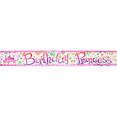 Princess Diva Party Foil Banner (each)