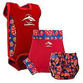 Konfidence Babywarma and Swim Nappies Set Strawberry - Multi