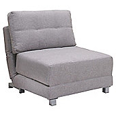 Leader Lifestyle Rita Chair Bed - Versatile Peppered Grey Fabric