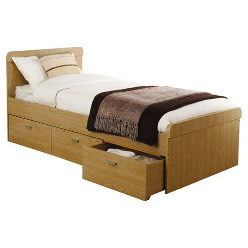 Elements Oakdale Forest Bed Frame - Single (3') - Oak