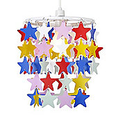 Stars Ceiling Pendant Light Shade in Multi Coloured