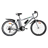 Cyclamatic Power Plus E-Bike Electric Mountain Bike with Lithium-Ion Battery, Silver