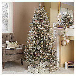6ft Christmas Tree, Aspen Flocked