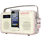 VIEWQUEST EMMA BRIDGEWATER RETRO DAB+/FM RADIO WITH LIGHTNING IPOD DOCK (SAMPLER)