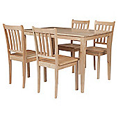 Essen Dining Table and 4 Chairs, Natural