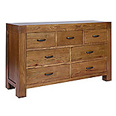 Rustic Grange Santana Rustic Oak Wide Chest of Drawers