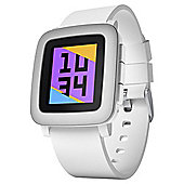 Pebble Time Smartwatch, White