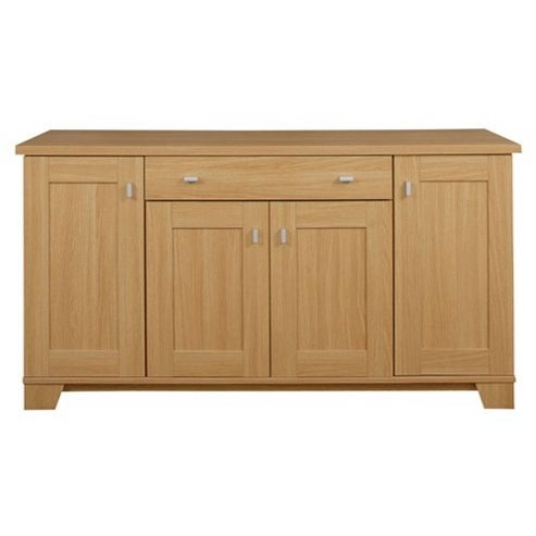 Caxton Sherwood 4 Door / 1 Drawer Sideboard in Natural Oak
