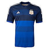 2014-15 Argentina Away World Cup Football Shirt (Kids) - Navy