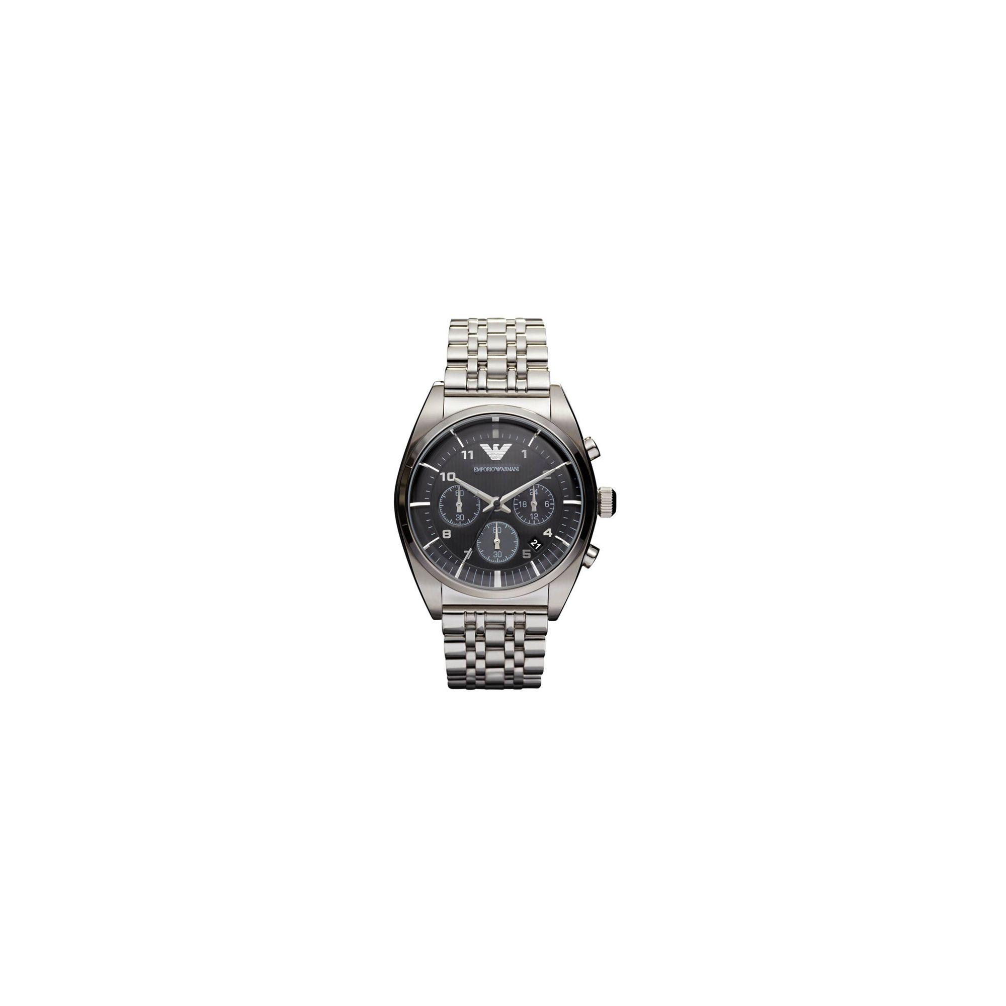 Emporio Armani Gents Chronograph Steel Bracelet Watch AR0373 at Tesco Direct