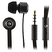 KitSound Ribbons Earphones With Microphone Black
