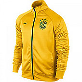 2014-15 Brazil Nike Core Trainer Jacket (Yellow) - Kids - Yellow