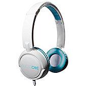 AudioCAKE Premium Headphones - White / Blue